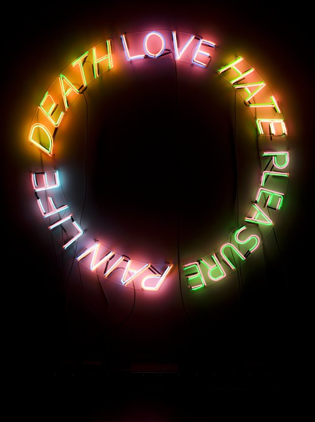 Life, Death, Love, Hate, Pleasure, Pain (1983) by Bruce Nauman