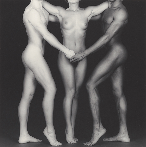 Ken and Lydia and Tyler, 1985, by Robert Mapplethorpe. Gelatin silver print Image: 38.4 x 38.2 cm (15 1/8 x 15 1/16 in.) Jointly acquired by the J. Paul Getty Trust and the Los Angeles County Museum of Art, with funds provided by the J. Paul Getty Trust and the David Geffen Foundation, 2011.7.19 © Robert Mapplethorpe Foundation