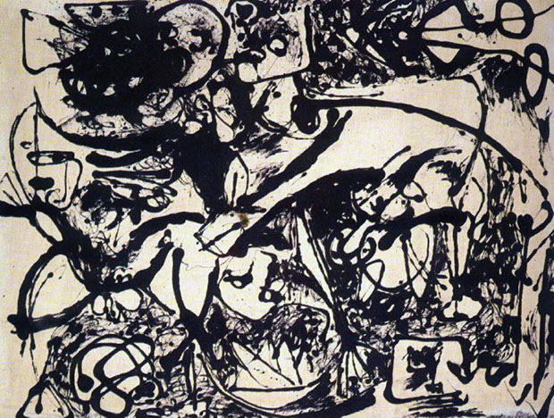 When Pollock stopped dripping and splashing