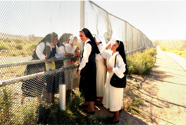 Nuns at the Border by Bruce Berman