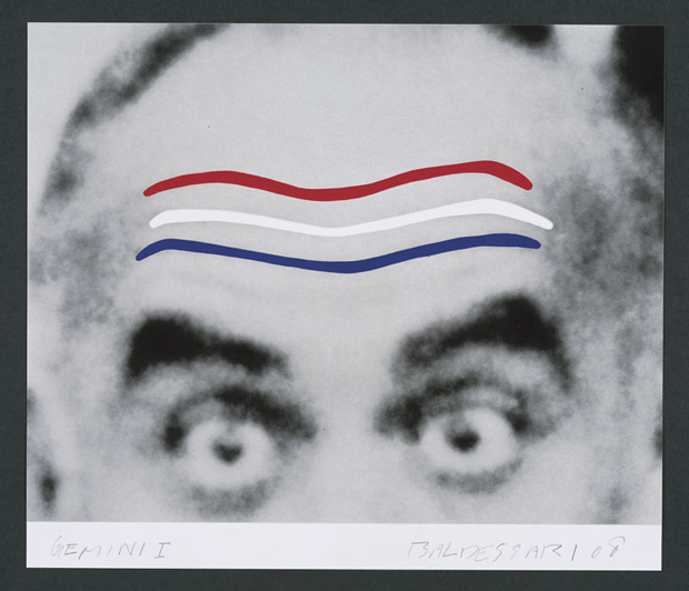 JOHN BALDESSARI  - Raised Eyebrows/Furrowed Foreheads (Red, White and Blue), 2008