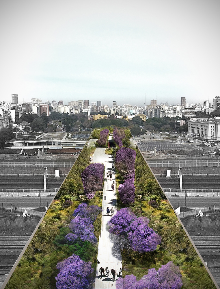 Elemental's new garden bridge building proposal for Buenos Aires