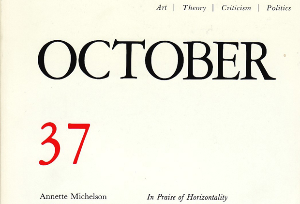 Detail from the cover of October, summer 1986