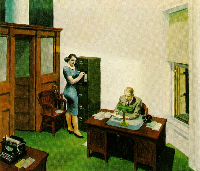 Office at Night (1940) by Edward Hopper
