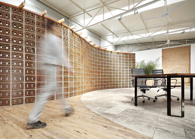OrfiSera's perforated wall