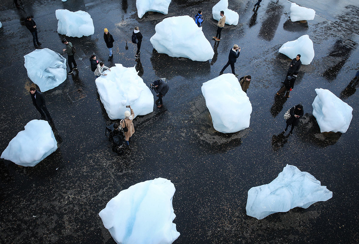 Ice Watch in London. Image courtesy of Olafur Eliasson's studio