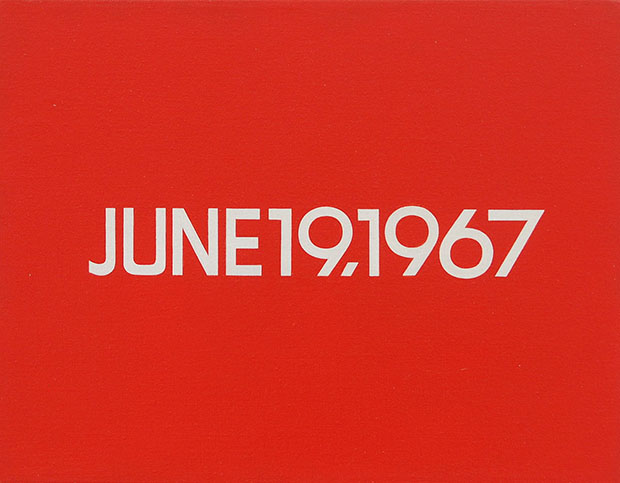 June 19, 1967, from the 'Today Series' (1966 - 2014) by On Kawara