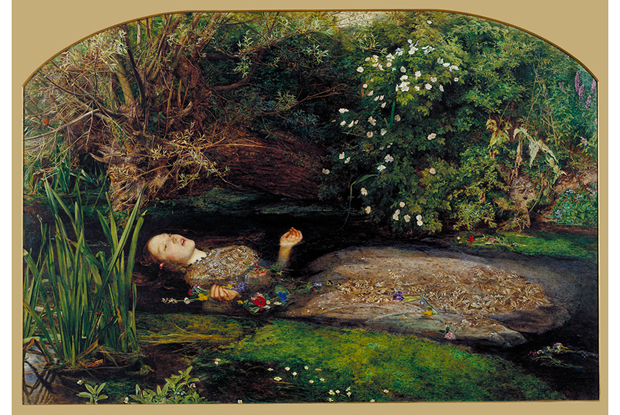 Ophelia (1852) by John Everett Millais. As reproduced in our Millais book