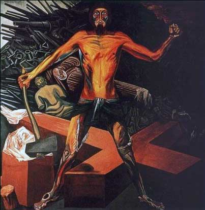 Modern Migration of the Spirit  (1932) by José Clemente Orozco