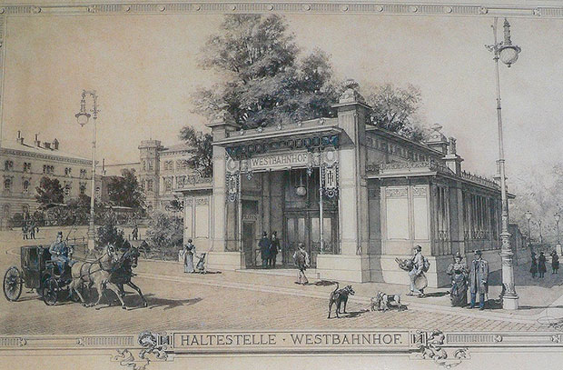 Stadtbahn Station Westbahnhof - Otto Wagner as depicted in Art in Vienna 1898-1918