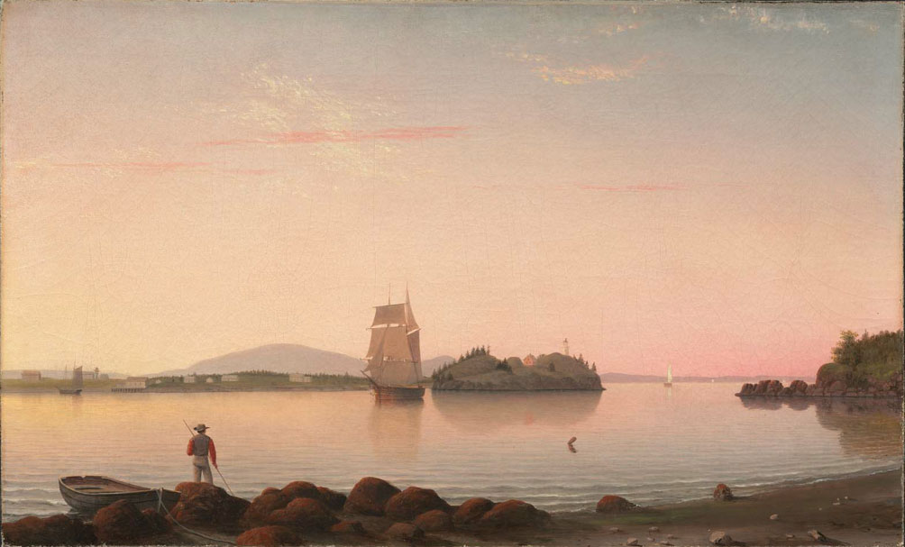 Owl's Head, Penobscot Bay, Maine (1862) by Fitz Henry Lane