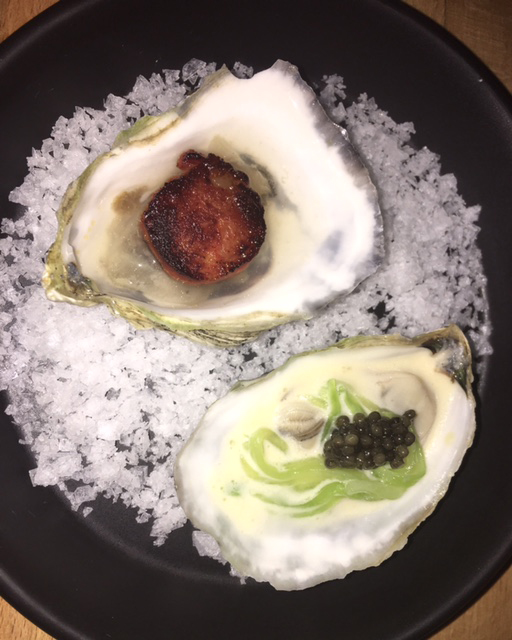 Harris's oysters at The Four Horsemen