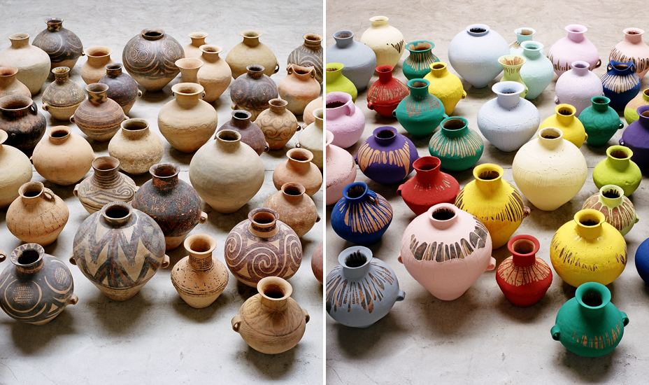Ai Weiwei, Coloured Vases (2006)