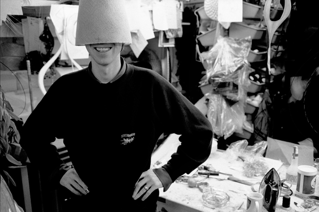 He's under there somewhere, Philip Treacy, 1998 - Kevin Davies