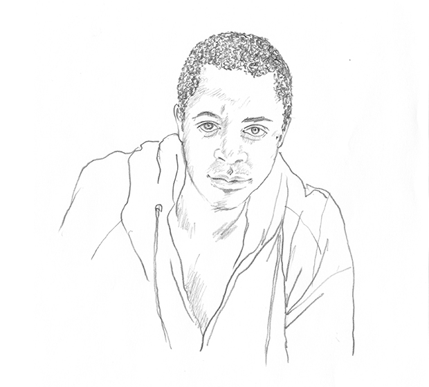 Sanford Biggers, as drawn by Phaidon's Creative Director Julia Hasting for AKADAMIE X