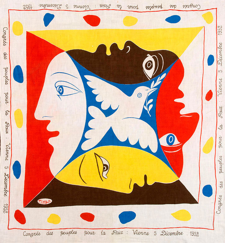 Congres Des Peuples Pour La Paix, Vienna (1952) by Pablo Picasso. All images from Styled by Design: Post War Textile Visionaries of Modern Art