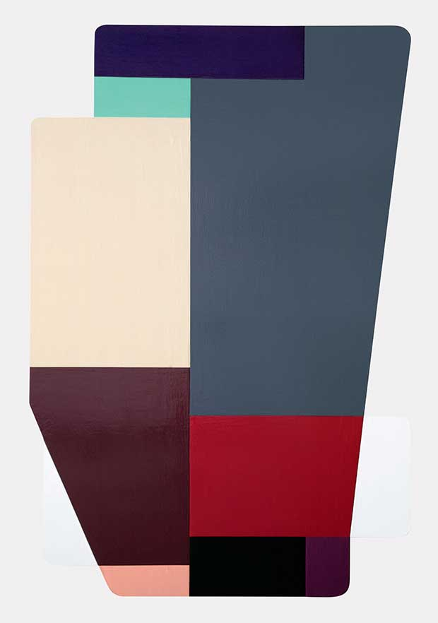 Untitled (2007-08) enamel on aluminium - Ruth Root from Painting Abstraction