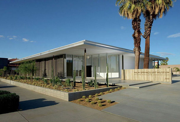 Palm Springs Art Museum Architecture and Design Center - E. Stewart Williams/ Marmol Radziner (photo Daniel Chavkin courtesy of Palm Springs Art Museum