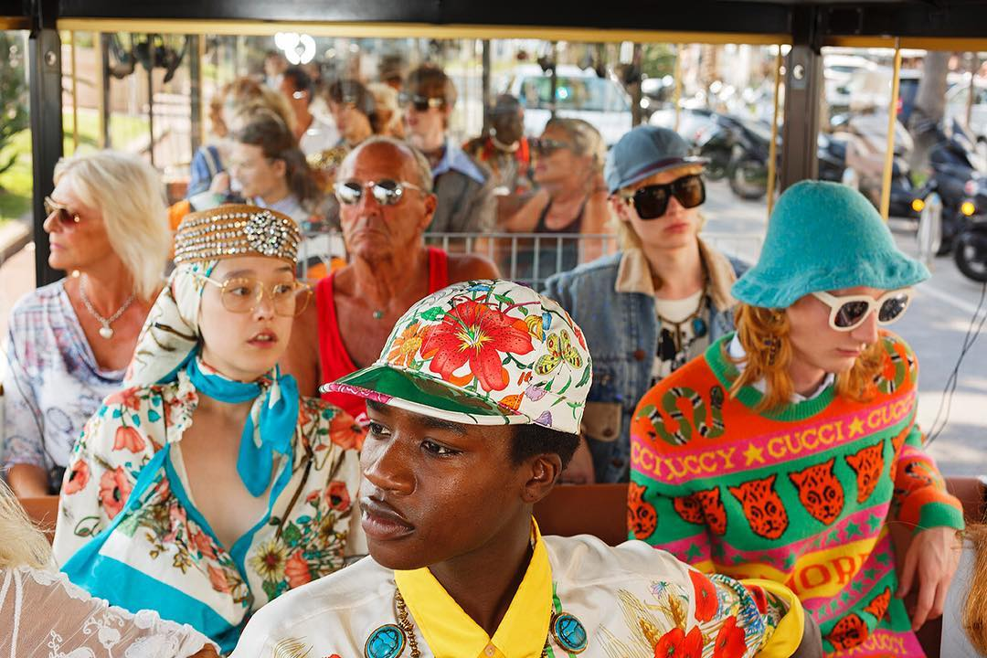 An image from Martin Parr's new Cannes shoot for Gucci