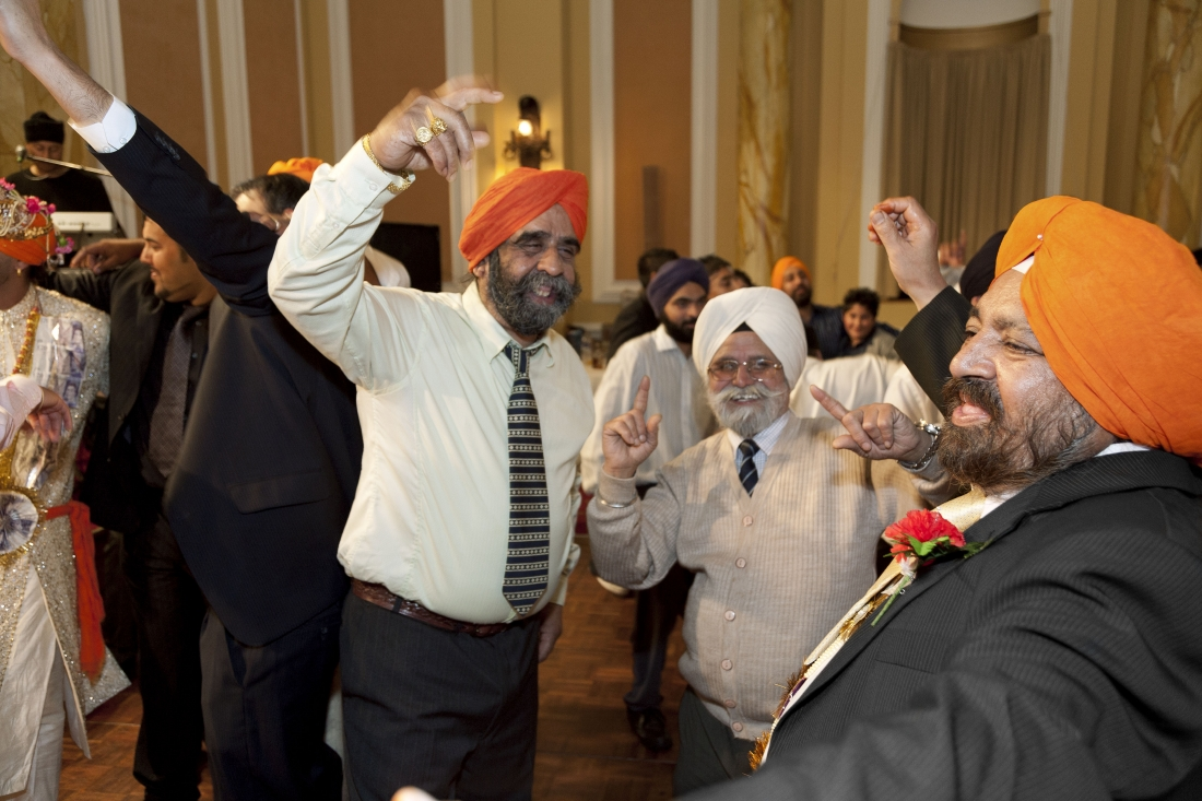 Sikh wedding at City Hall, Cardiff, Wales, 2008. © Martin Parr / Magnum Photos / Rocket Gallery