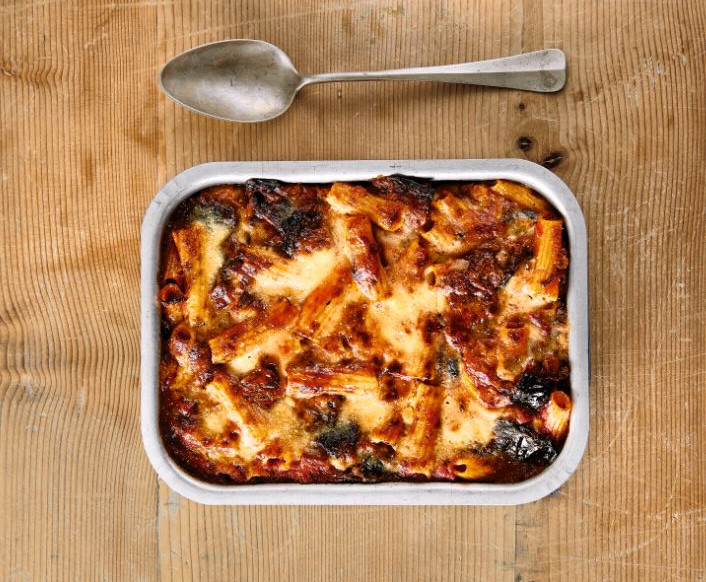 Baked Pasta alla Parmigiana, from Bread is Gold