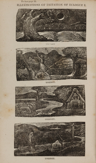 William Blake's wood engravings for Thornton's edition of Virgil's Pastorals  from 1821