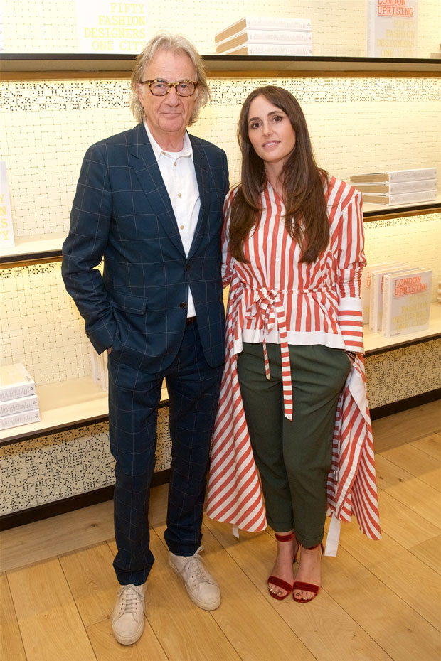 Sir Paul Smith and London Uprising co-editor Tania Fares