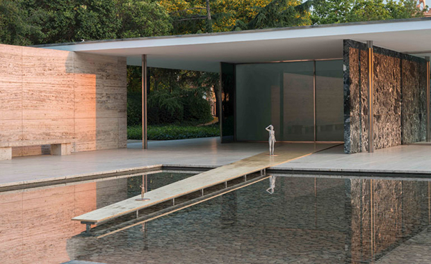 Architectones at the Barcelona Pavilion (2014) by Xavier Veilhan. Photo by Florian Kleinefenn