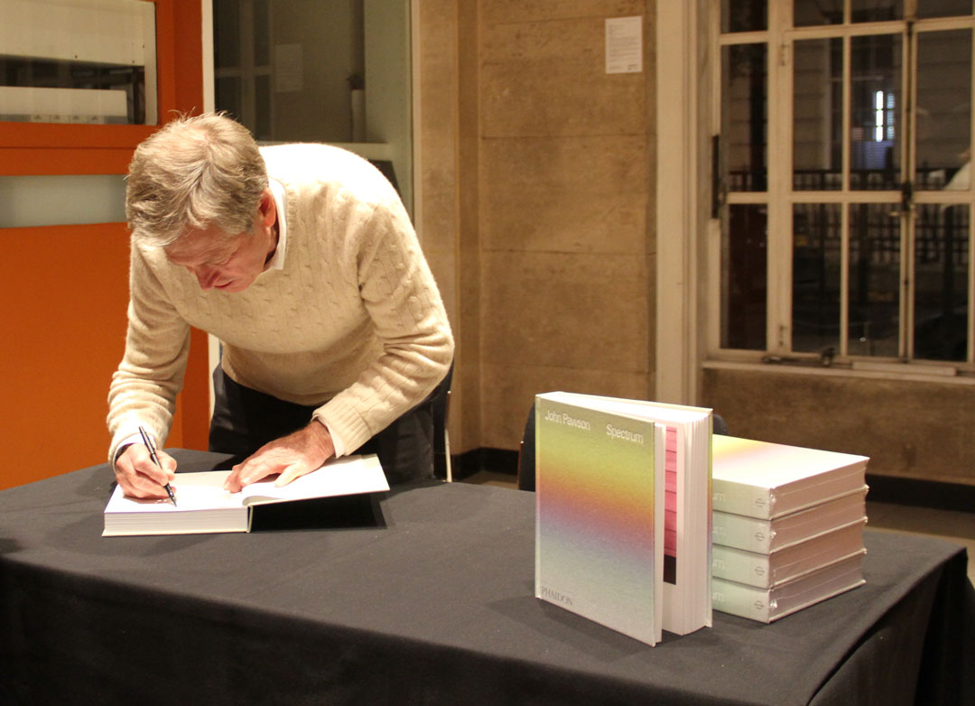 John Pawson talks colour with Michael Craig-Martin at RIBA