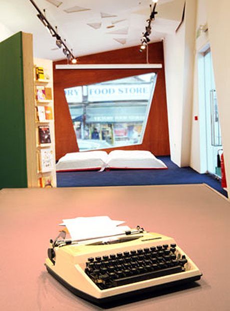Installation view from Bookbed by Ruth Beale