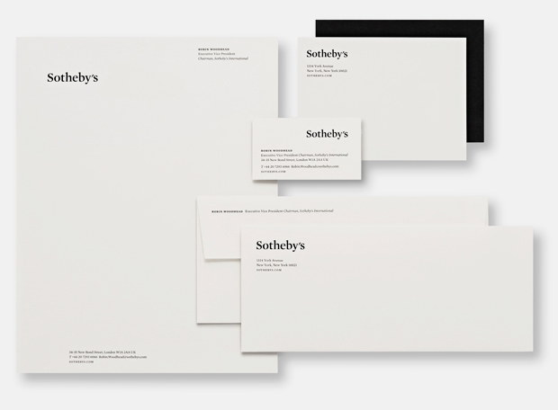 Pentagram reworks Sotheby's stationery