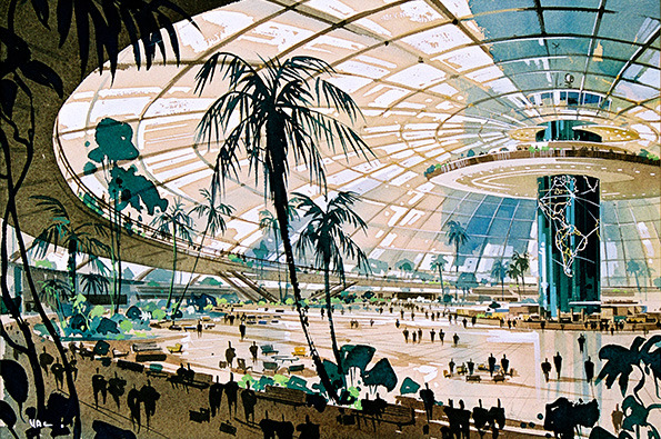 Pereira and Luckman's dome proposal for LAX (1959)