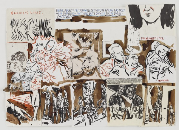No title (Chorus line. Think…) (2013) by Raymond Pettibon