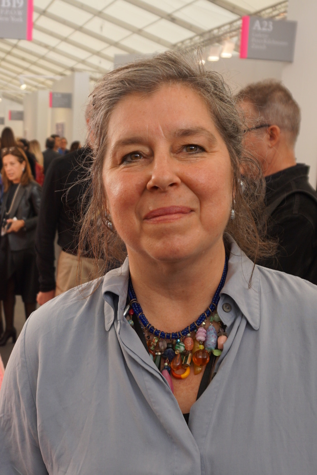 Portia Munson at Frieze, 2016. Photograph by Alex Rayner