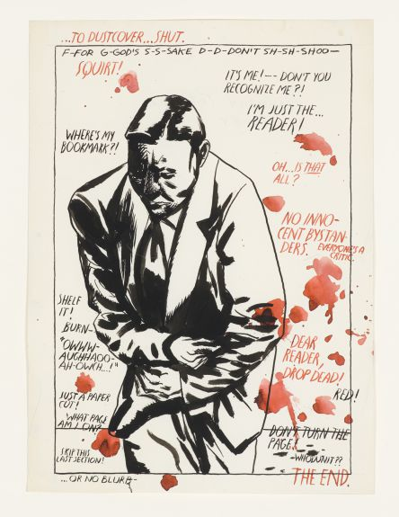 No Title (To Dust Cover…Shut) (1984) by Ray Pettibon