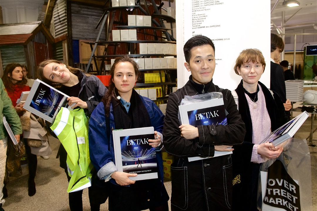 Betak fans at Dover Street Market in London last night. All photos by James Mason