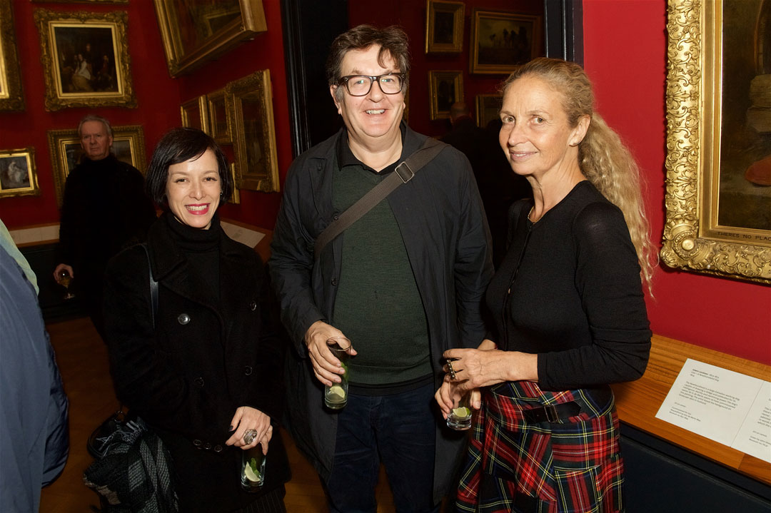 Mark Wallinger (centre) with Evelyn Stern (right) and Laura Curry (left)