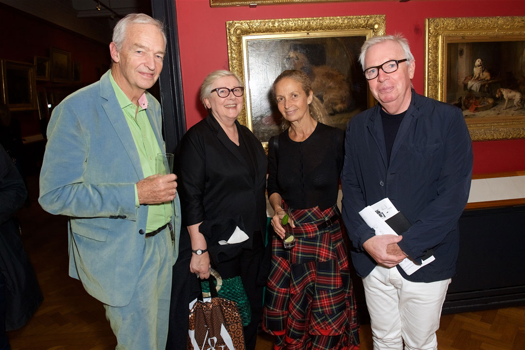 Jon Snow, Jane Quinn, and David Chipperfield and wife Evelyn Stern