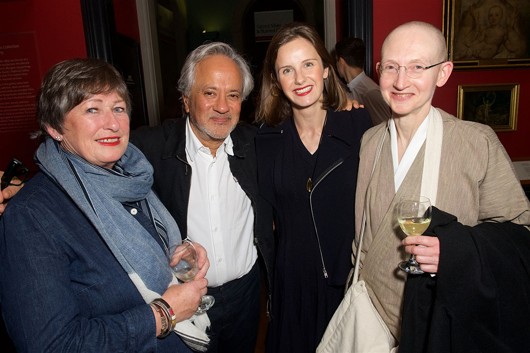 Author Sophie Walker (centre right) with Anish Kapoor (centre left), plant hunter Sue Wynn-Jones (left) and Zen Buddhist nun Venerable Myokun (right)