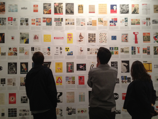 Visitors to the Phaidon Archive of Graphic Design room at Design Junction