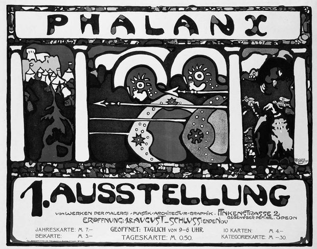 Phalanx - Wassily Kandinsky, Phalanx Exhibition (1901)