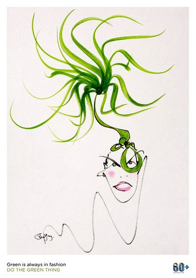 Philip Treacy's poster for Do The Green Thing