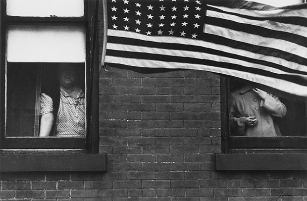 When Robert Frank shot the American flag