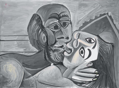 The Kiss (1969) by Pablo Picasso