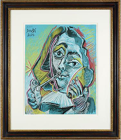 Man Smoking a Pipe (1971) by Pablo Picasso