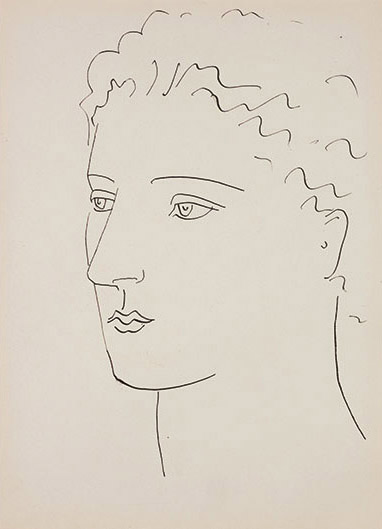 Tête de femme (1923) by Pablo Picasso. Part of Sotheby's Picasso in Private: Works from the Collection of Marina Picasso