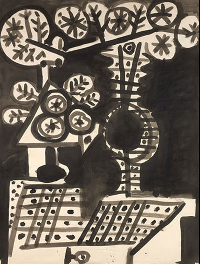 Vase de fleurs (1955) by Pablo Picasso. Part of Sotheby's Picasso in Private: Works from the Collection of Marina Picasso