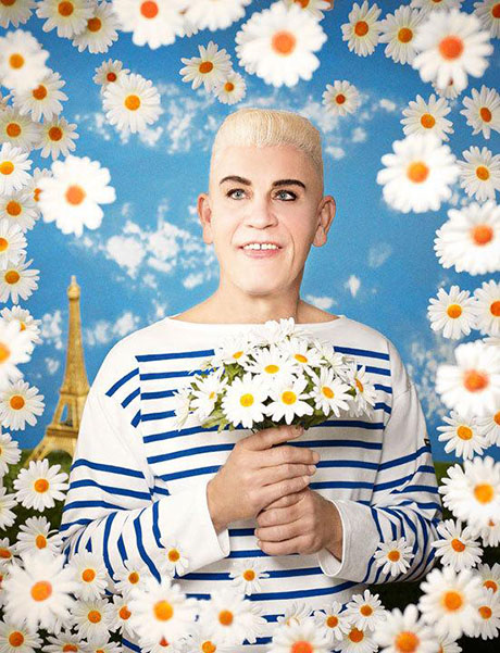 Pierre et Gilles / Jean-Paul Gaultier (1990), 2014 by Sandro Miller. From the Malkovich, Malkovich, Malkovich - Homage to photographic masters series. Courtesy of the artist and Catherine Edelman Gallery, Chicago