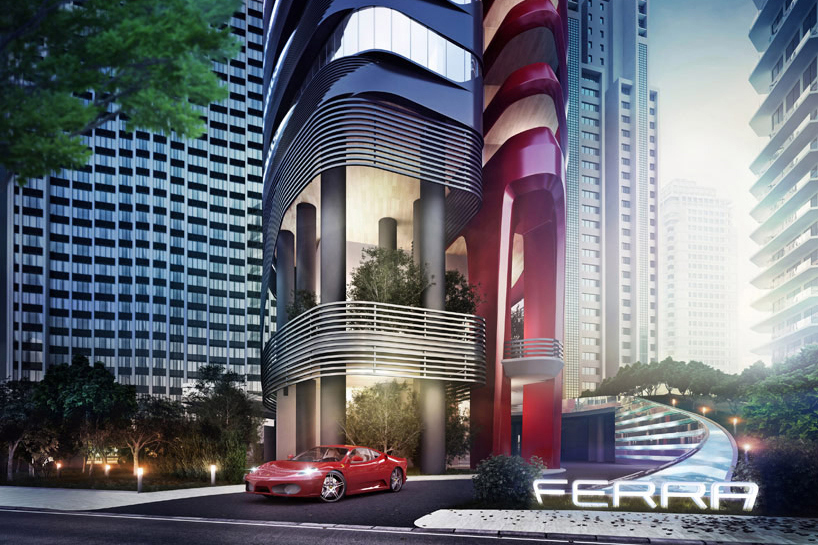 Pininfarina's Ferra tower in Singapore