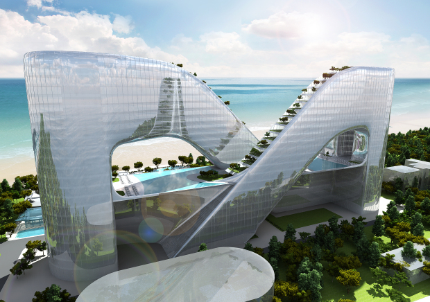 Planning Korea's proposed resort in Gangneung. Images courtesy of Planning Korea